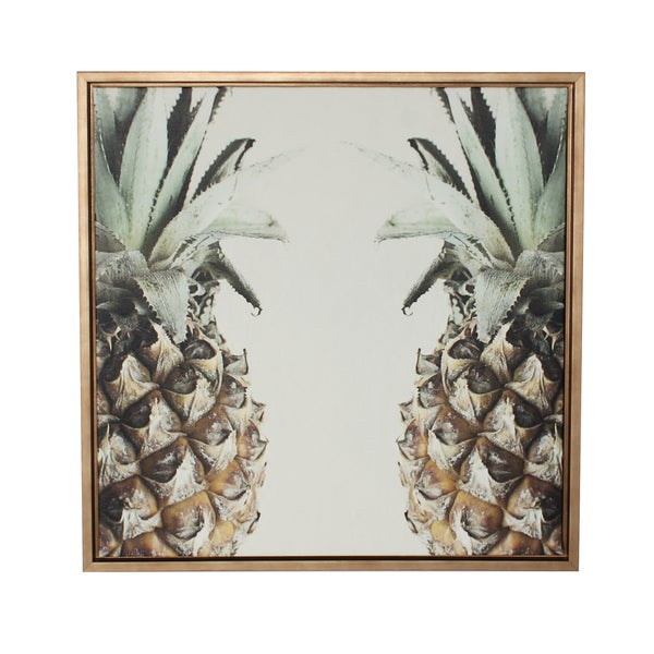 Sylvie Pineapple Gold Framed Canvas Wall Art - Free Shipping Today ...
