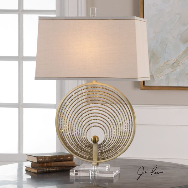 Uttermost Petrelli Iron Ring Table Lamp