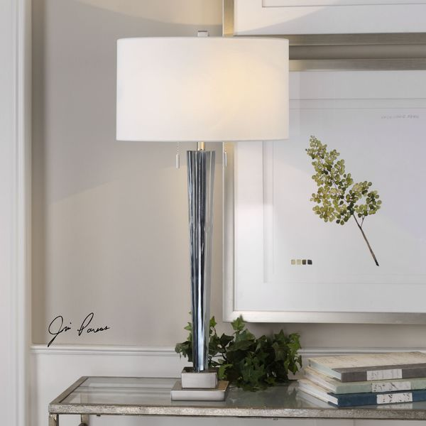 Uttermost Afina Brushed Nickel Table Lamp