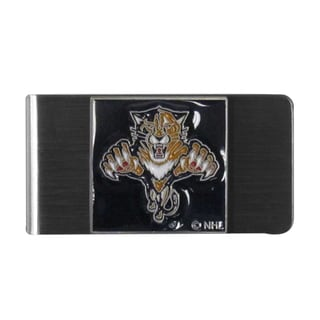Siskiyou NHL Florida Panthers Sports Team Logo Steel Money Clip