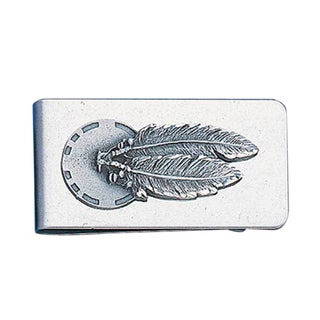 Siskiyou Concho and Feathers Stainless Steel Sculpted Money Clip