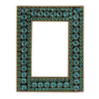 Handmade Bejeweled 4X6 Photo Frame, 'Aqua Glitz' (India)|https://ak1.ostkcdn.com/images/products/13573793/P20248138.jpg?impolicy=medium
