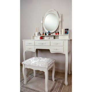 Grand de Lux Vanity Table and Stool