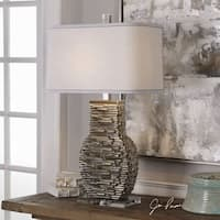 Uttermost Clavin Stack Textured Table Lamp