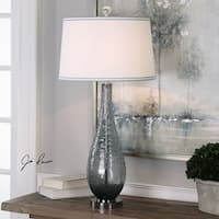 Uttermost Serano Gray Glass Table Lamp