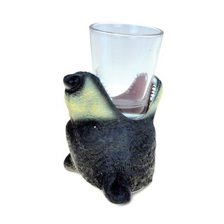 Puzzled Animal-theme Black Bear Cool Animal Head Shot Glass