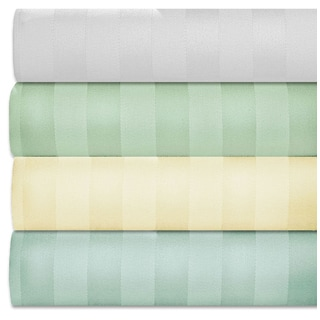 Striped 1,000-TC Cotton Sheet Set (4-Piece Set)