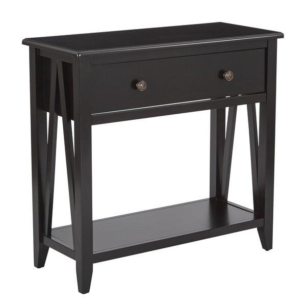 Foyer Table Overstock : Shop santa cruz black entryway console table free