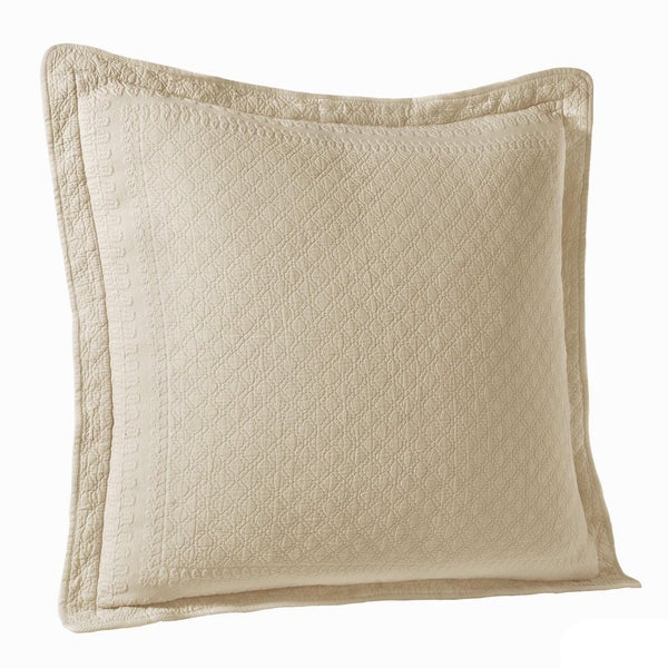 Historic Charleston King Charles Cotton Matelasse Euro Sham - 26X26