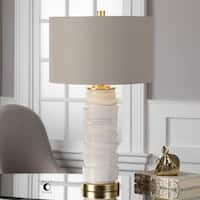 Uttermost Codru Gloss White Ceramic Lamp