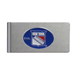Siskiyou NHL New York Rangers Brushed-metal Sports Team Logo Money Clip