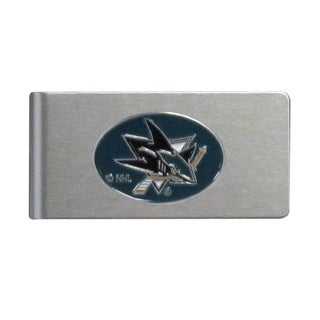 Sisikiyou NHL San Jose Sharks Brushed Sports Team Logo Metal Money Clip
