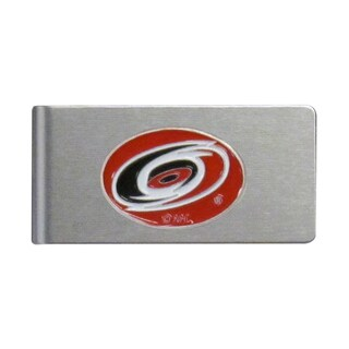 NHL Carolina Hurricanes Brushed Sports Team Logo Metal Money Clip