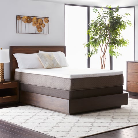Natures Rest Summer Nights 11-inch Twin XL-size All Latex Mattress Set - White/Brown