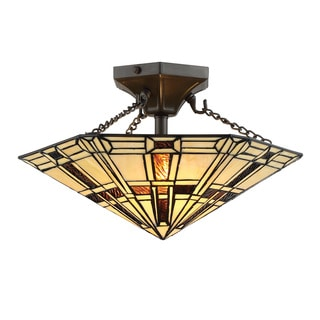Lite Source Mircea 2-Light Semi-Flush Mount