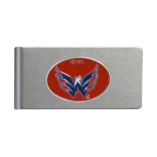 Siskiyou NHL Washington Capitals Brushed Metal Sports Team Logo Money Clip