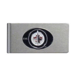 Siskiyou NHL Winnipeg Jets Sports Team Logo Brushed Metal Money Clip