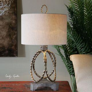 Uttermost Pylaia Bronze Steel Rings Lamp