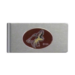 Siskiyou NHL Arizona Coyotes Brushed Sports Multicolored Metal Money Clip