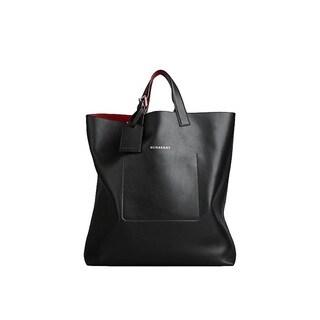 Burberry 'Portrait' Large Bonded Leather Tote Handbag