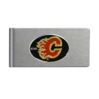 Siskiyou NHL Calgary Flames Brushed Sports Team Logo Metal Money Clip