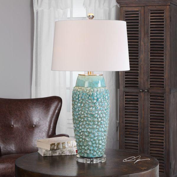 Uttermost Hermosa Sky Blue Ceramic Lamp