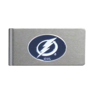 NHL Tampa Bay Lightning Brushed Sports Team Logo Metal Money Clip