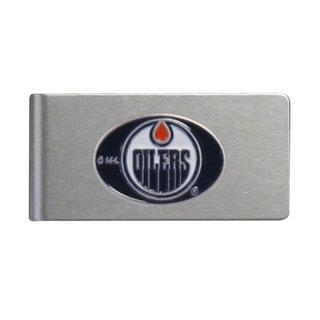 Siskiyou NHL Edmonton Oilers Brushed Metal Sports Team Logo Money Clip