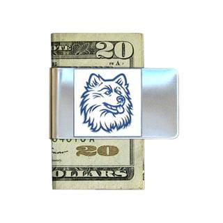 Siskiyou College NCAA UCONN Huskies Sports Team Logo Stainless Steel Money Clip