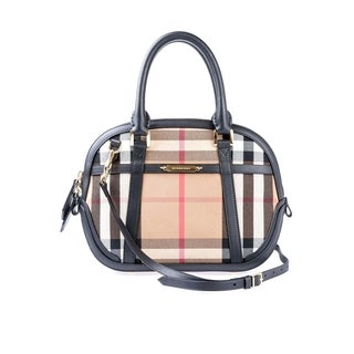 Burberry 'Sartorial' House Check Bowling Handbag