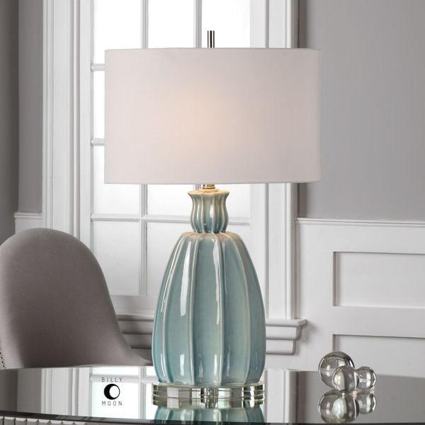 Uttermost Suzanette Sky Blue Ceramic Lamp