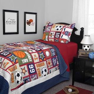 Journee Home Kid's Dream Sport Printed 2-Piece Quilt Set