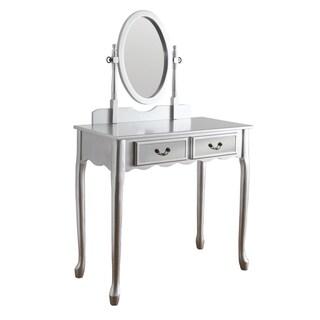 Furniture of America Savanna 2-piece Classic Vanity Table and Stool Set
