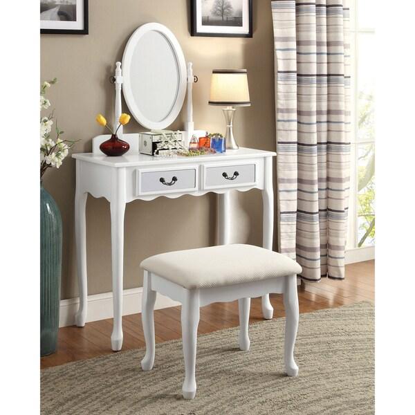 Two Piece Vanity Sets: Shop Furniture Of America Savanna 2-piece Classic Vanity