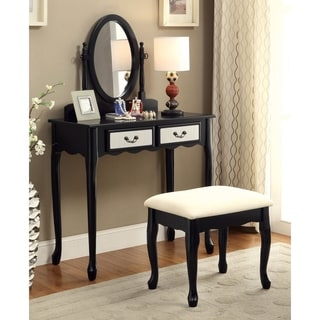 Furniture of America Savanna 2-piece Classic Vanity Table and Stool Set