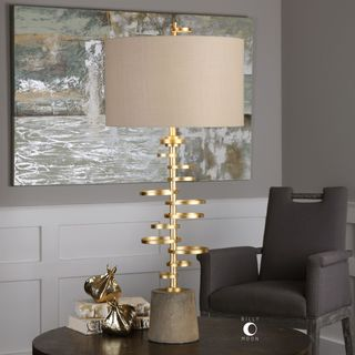 Uttermost Lostine Antiqued Gold Lamp