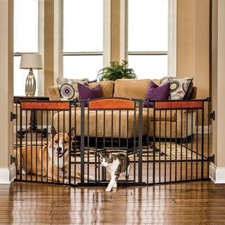 Carlson Pet Products Design Paw Arched Flexi Pet Gate