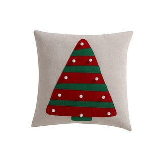 VCNY Christmas Tree Decorative Pillow 18-inch