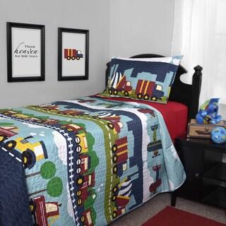 Journee Home Kid's Choo-choo Printed 2-piece Quilt Set