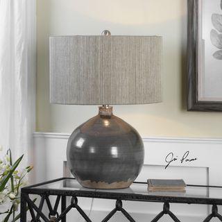 Uttermost Vardenis Gray Ceramic Lamp