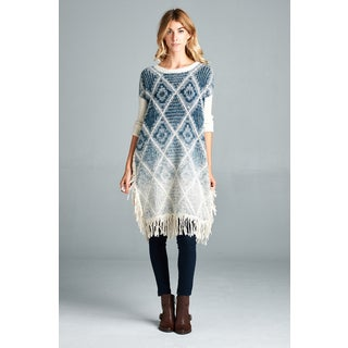 Spicy Mix Brynlee Fuzzy Soft Long Sleeve Fringe Sweater
