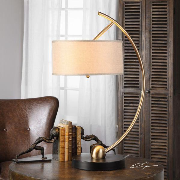 Uttermost Vardar Curved Brass Lamp