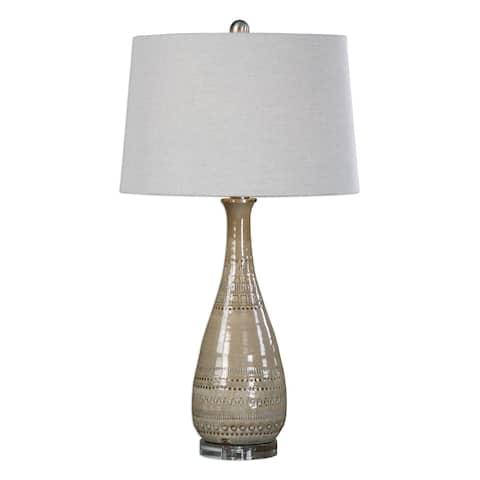 Uttermost Nakoda Embossed Ceramic Lamp