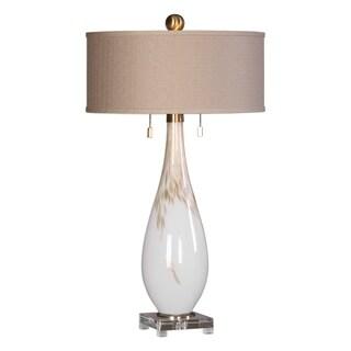 uttermost cardoni white glass table lamp