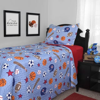 Journee Home Kid's Game Time Printed 2-piece Quilt Set