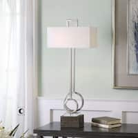 Uttermost Deshka Brushed Nickel Table Lamp