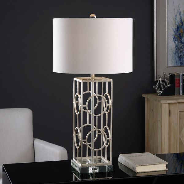 Uttermost Mezen Silver Table Lamp