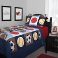Journee Home Kid's Sport Life Printed 2-piece Quilt Set
