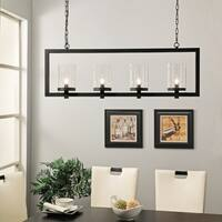 Abbyson Grayson 4-light Black Chandelier