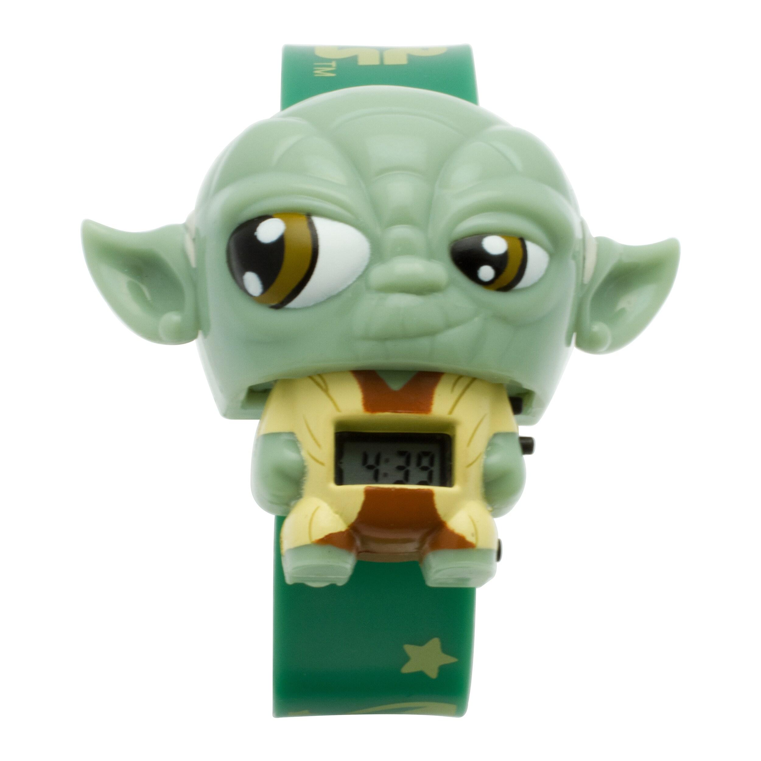 BulbBotz Star Wars Kid's Light Up Yoda Watch (Green), Boy...
